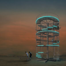 1. Seesaw spiral - Burning Man Art Grand