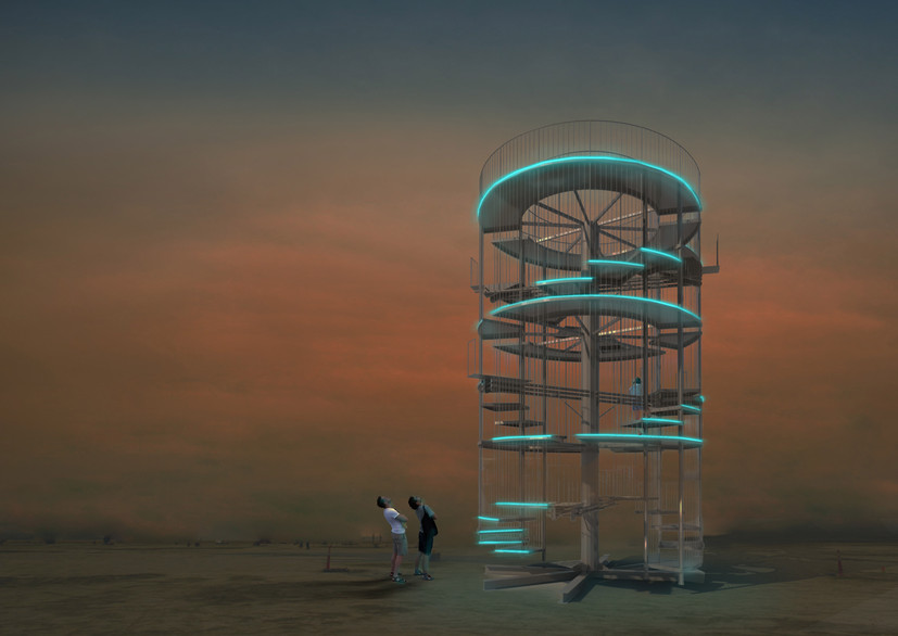 In 2017, Seesaw Spiral was one of the 74 winning schemes that received art grant from the Black Rock City Honoraria by the Burning Man organisation.