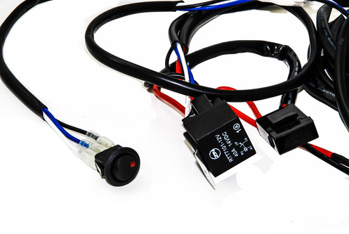 double plug wiring harness for fog lights hid and led lights