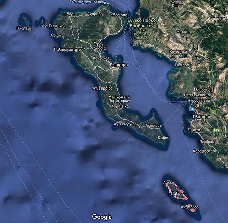 Corfu and Paxos Greek Islands