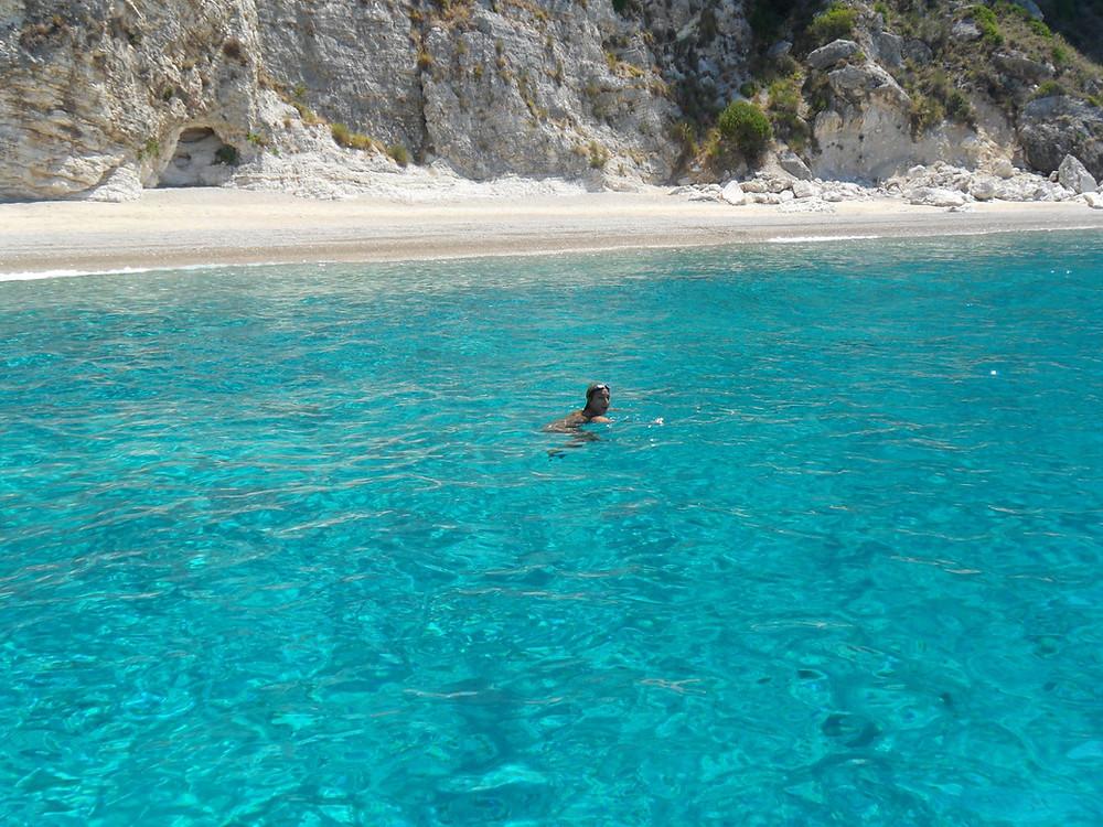 Giali Beach Corfu Paradise swimming emerald Ionian sea waters