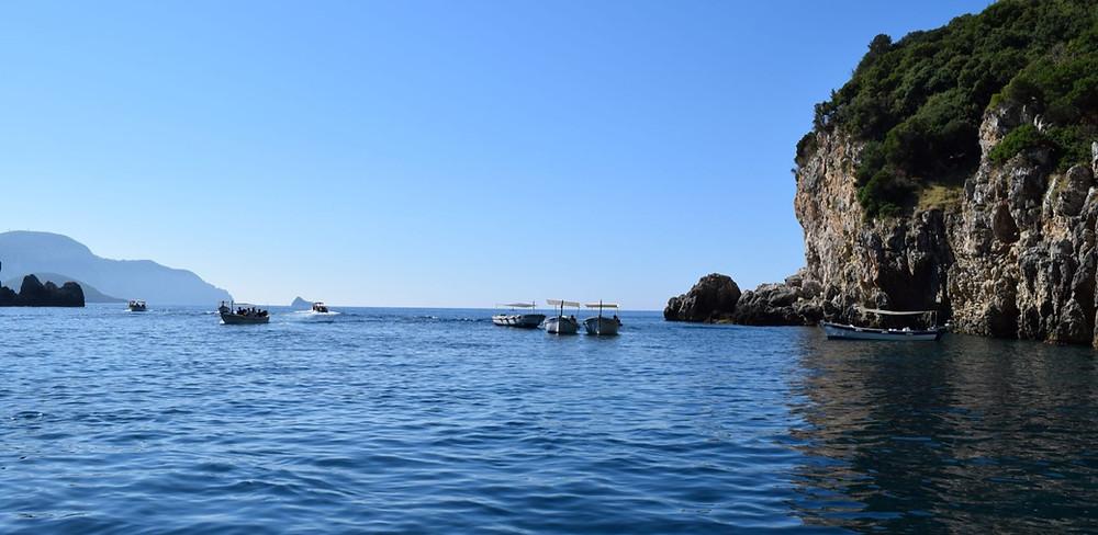 Paleokastritsa Corfu boat tour holidays Paradise beach