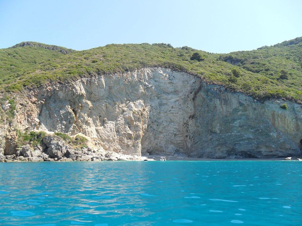 Stelari beach Stellari Paleokastritsa Ionian Sea virgin beach