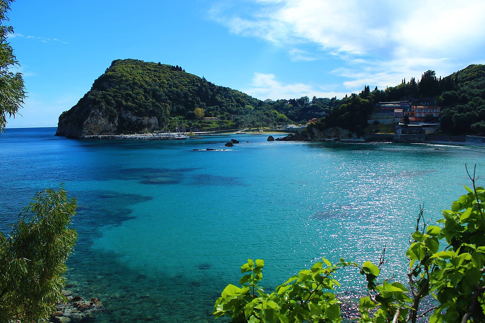 Paleokastritsa Corfu Vacaciones Grecia Playa