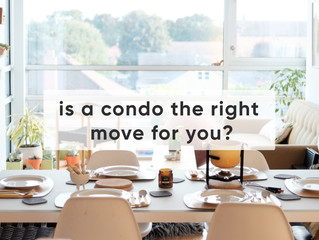 A condo may be a great solution for downsizing.