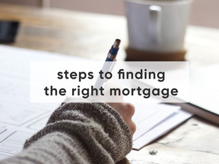 Steps To Finding The Right Mortgage