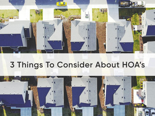 3 Things To Consider About HOAs