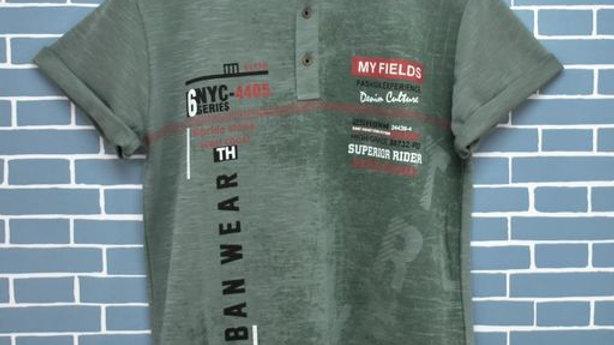 Hourplus - Fancy 100% Cotton Henley Shirt For Men's