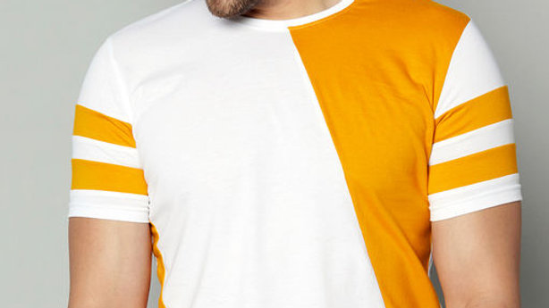 AUSK Colourblock Crew-Neck T-shirt