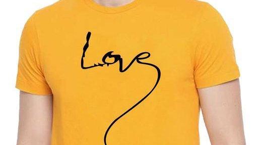 Love Cotton Round Neck T-Shirt for Men