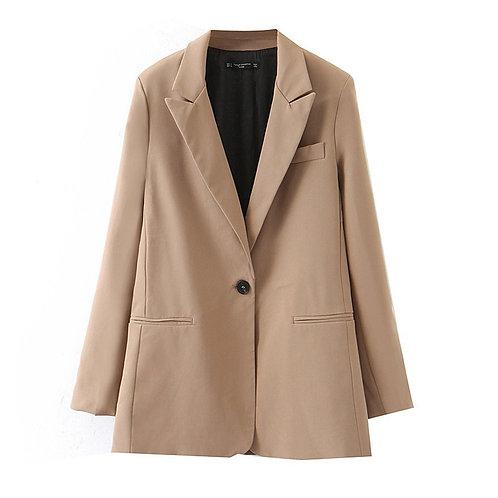 Autumn Winter Blazer Women Casual Elegant Long Sleeve Blazer