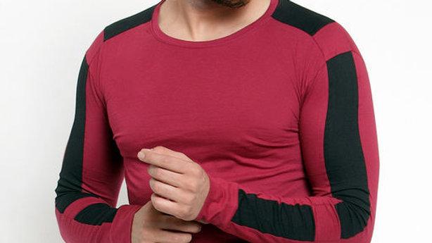 GESPO Maroon Solids T-Shirt