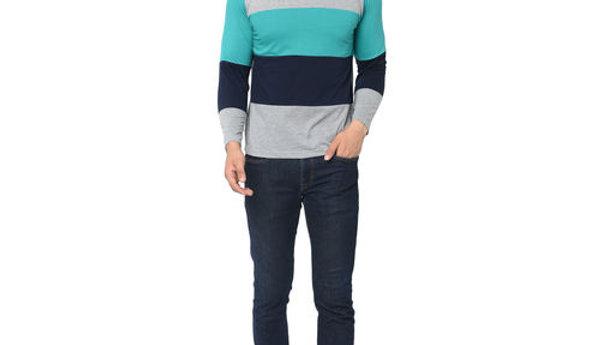 Men's Stylish Cotton Striped T-shirts