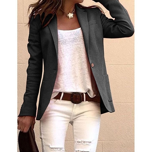 Women Blazers and Jackets Spring Plus Size Black Casual Cape Blazer Office