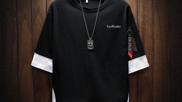 EYEBOGLER 100% Cotton Regular Fit  Round Neck Full Sleeve Men's T-Shirt