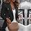 Thumbnail: Button Ladies Blazer Work Suit Women's Jacket Office Lady Formal Women Blazers