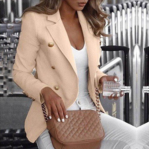 Button Ladies Blazer Work Suit Women's Jacket Office Lady Formal Women Blazers