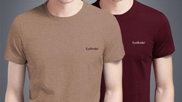 Men Rocks Round Neck Half Sleeve Solid plain T-Shirt For Men