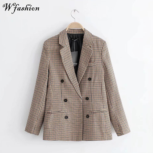 2020 Winter Women Plaid Blazers