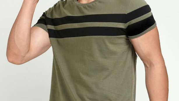 AUSK Green Striper T-Shirt