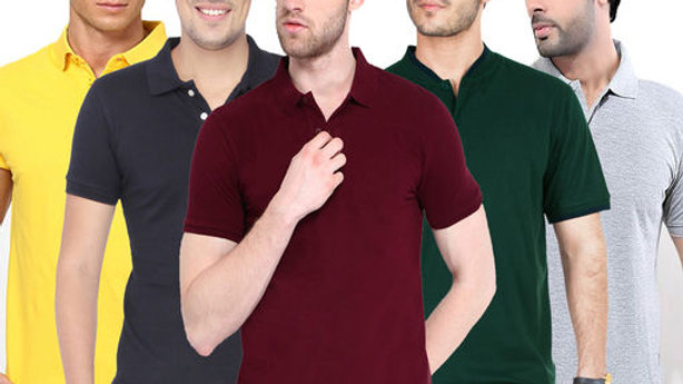 Fashionable Mens Trendy Tshirts Combo (Pack Of 5)