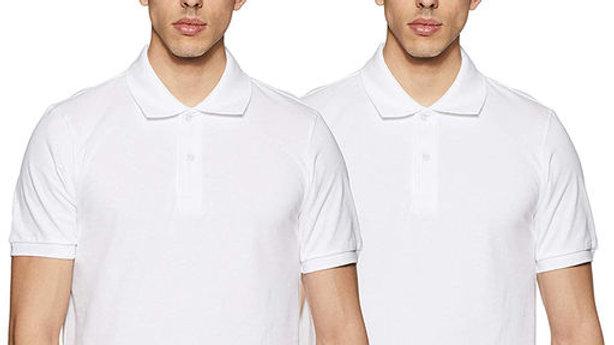 Ansh Fashion Wear Polo Neck Plain T-shirt - Pack of 2