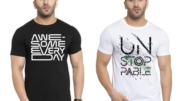 Ansh Fashion Wear Present Digital Print T-Shirt for Men and Boys Pack of 2
