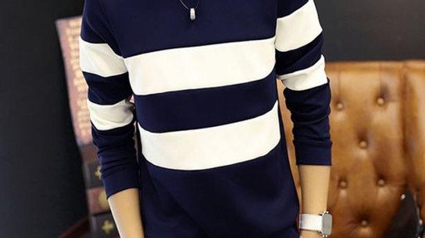 Men Regular Navy Blue T-Shirt