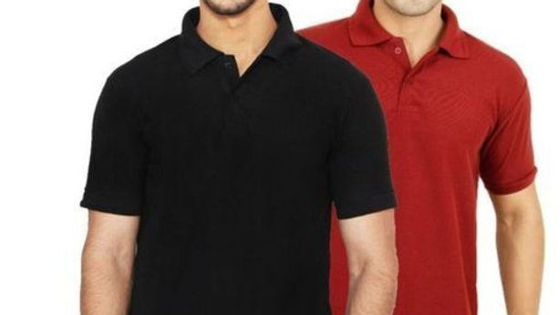 Ansh Fashion Wear Pack of 2 Regular Wear Polo Neck T-shirt