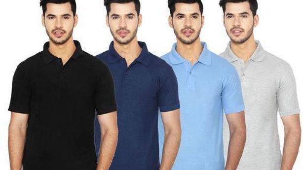Ansh Fashion Wear Pack of 4 Regular Wear Polo Neck T-shirt