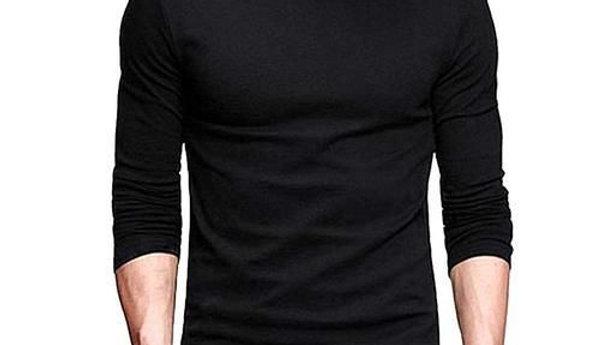 Fashionable Cotton Men's Solid T-Shirt