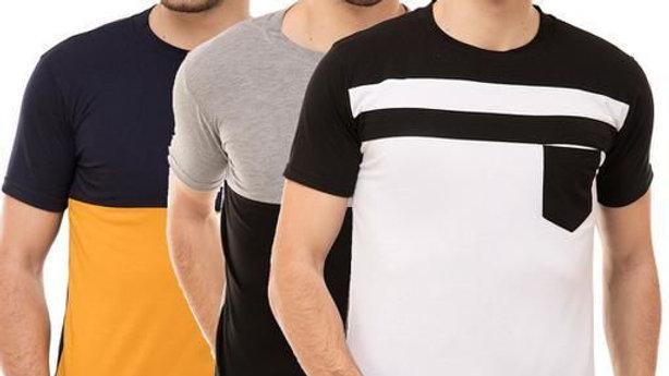 Men's Cotton Blend T-shirts  ( Pack Of 3 )