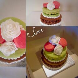 Large two tier macaron celebration cake