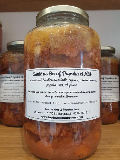 Sauté de Boeuf Paprika et Miel - 1.5 kg