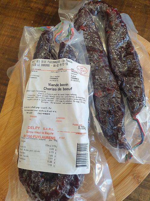 Chorizo 100% boeuf - 230g environ