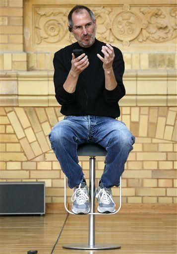 Steve Jobs normcore black turtleneck blue jeans