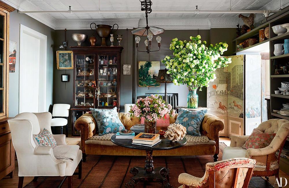 John Derian's Manhattan home shot by Stephen Kent Johnson