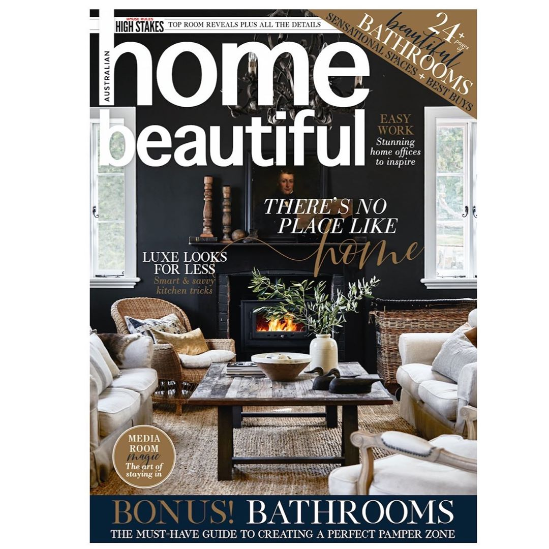 Editorial styling and writing for Home Beautiful cover story, photography by Sue Stubbs