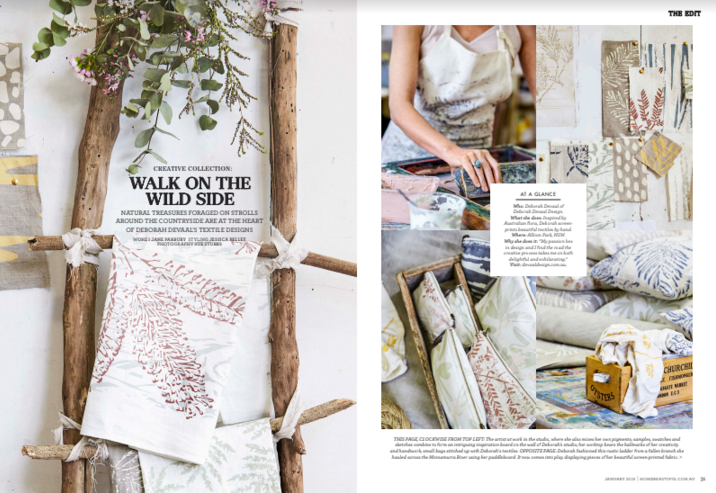 Editorial styling for Home Beautiful, photography by Sue Stubbs
