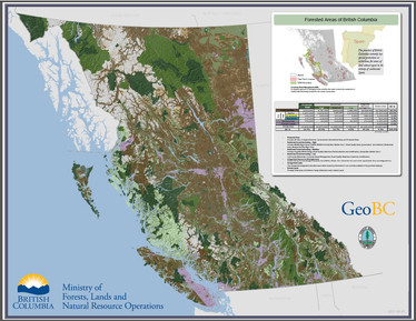 Forested Areas of British Columbia