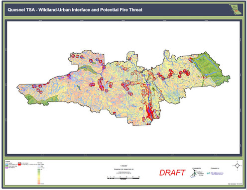 Quesnel TSA – WUI and Potential Fire Threat