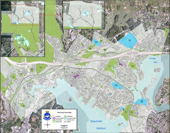 View Royal Street Map