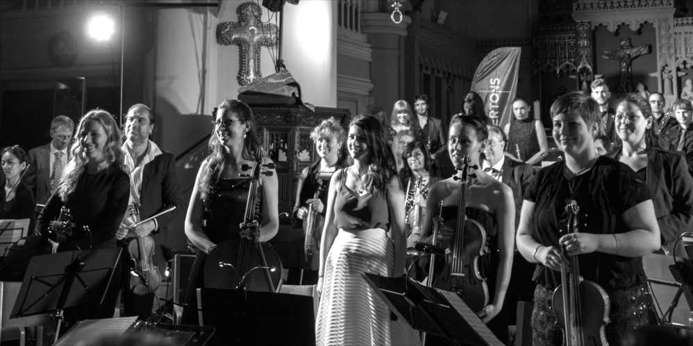 London Film Music Orchestra performing