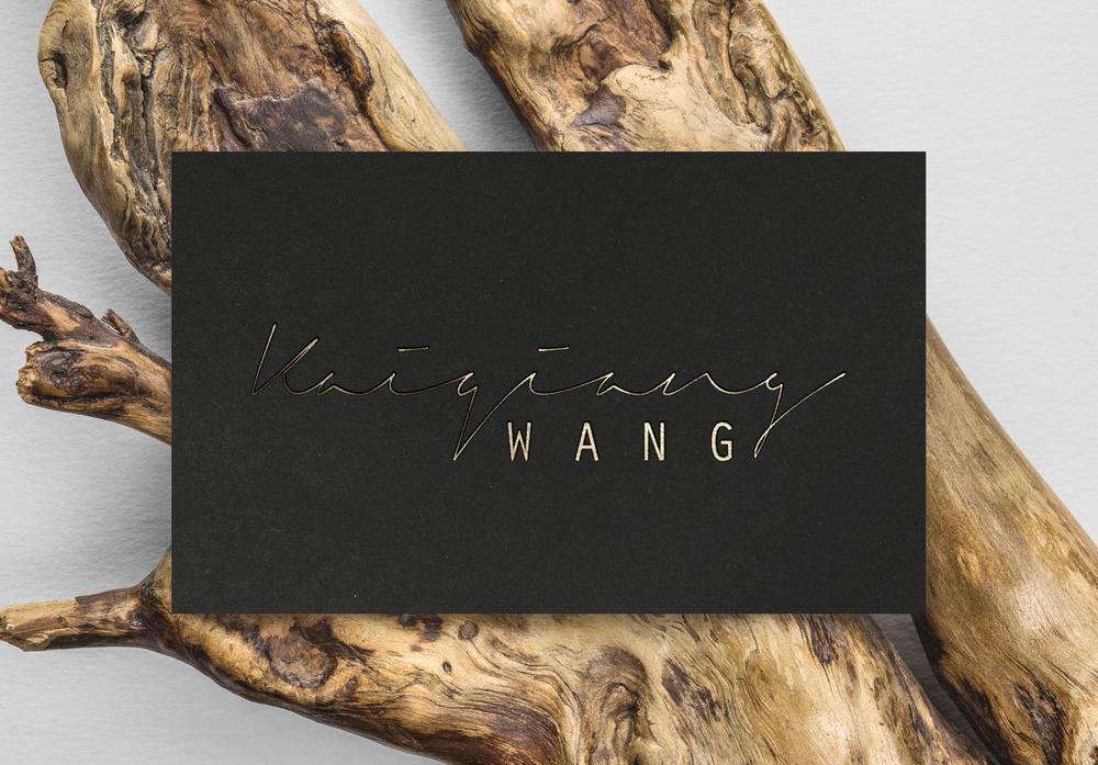 Kaiqiang Wang Visual Identity