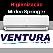 Higienização de ar condicionado split Midea