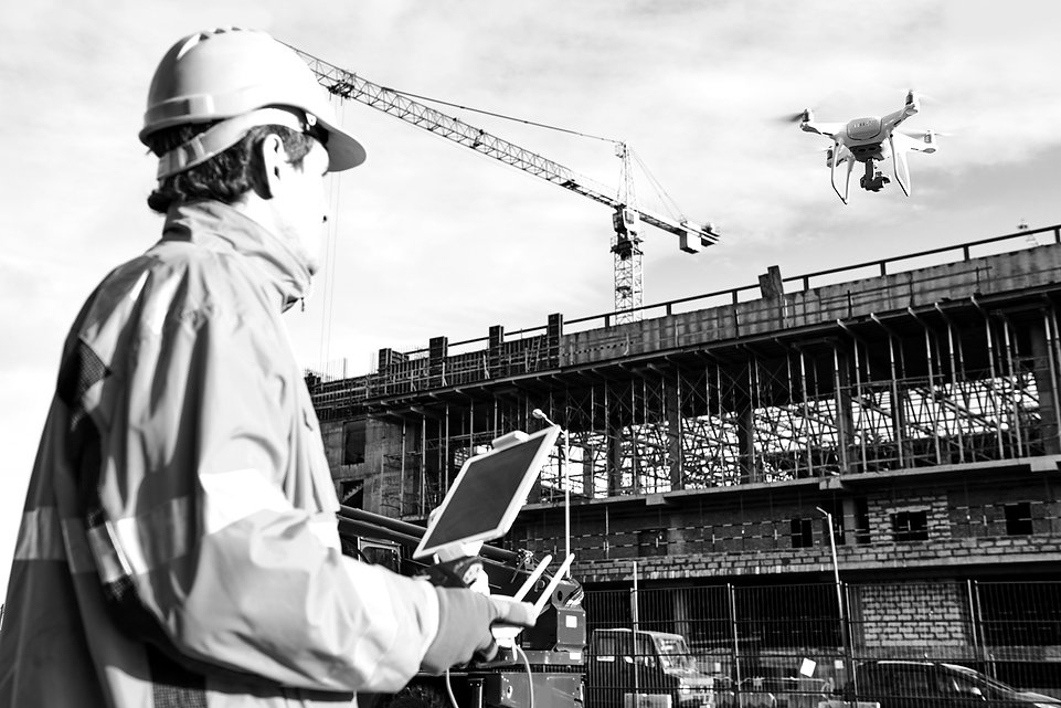 drone suivi chantier