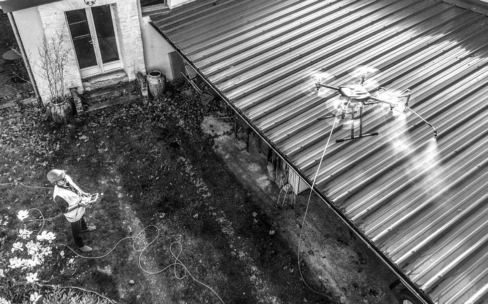 drone traitement toiture