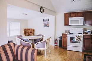 Sleeps 8. Digital Cable, WiFi, Fresh Linens, Towels, Pots pans, Cooking utensils, Dinnerware and silverware, Toilet paper, Propane gas grills (propane included), Grilling utensils