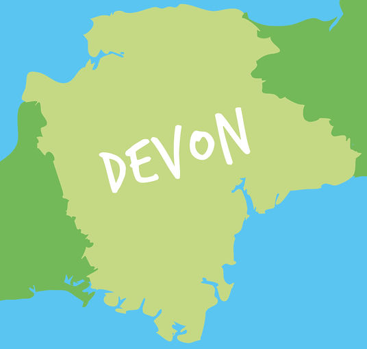 Twisted Orange Devon Map