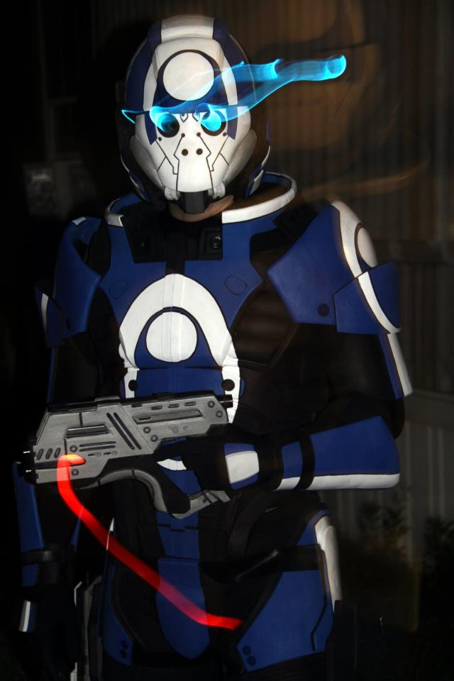Blue Suns Armor and Prop Pistols